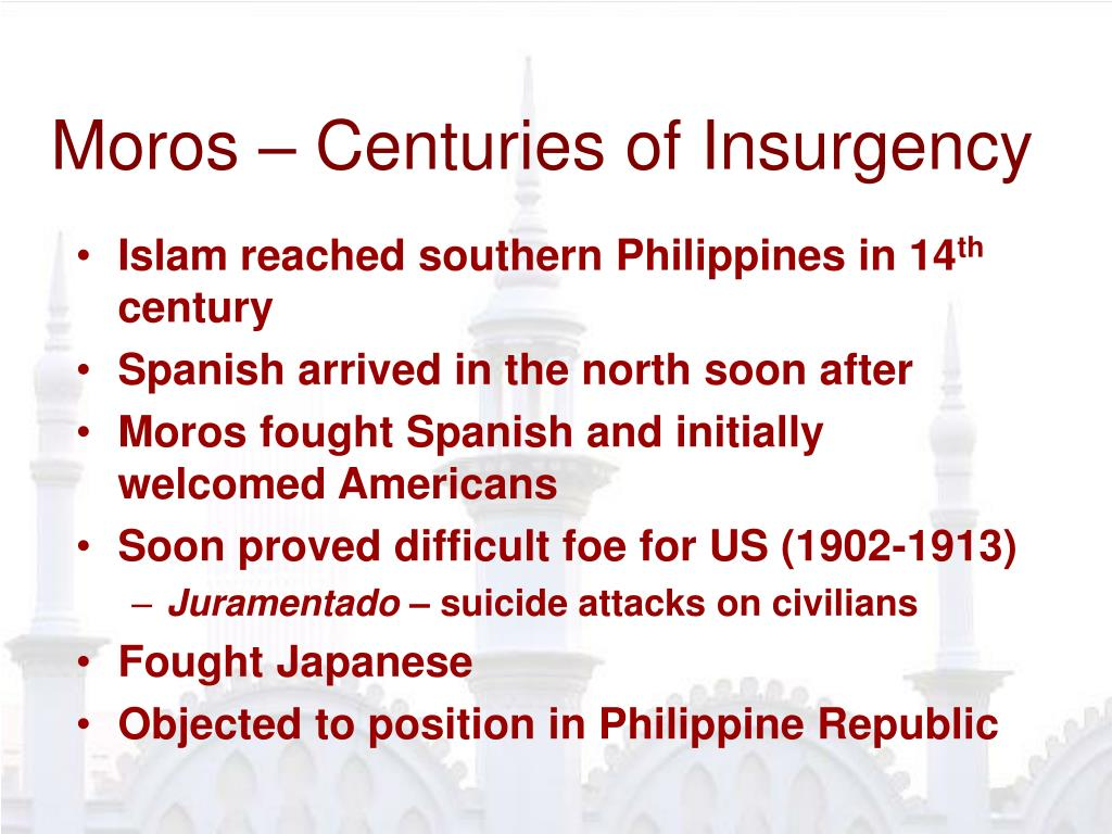 Moros – Centuries of Insurgency