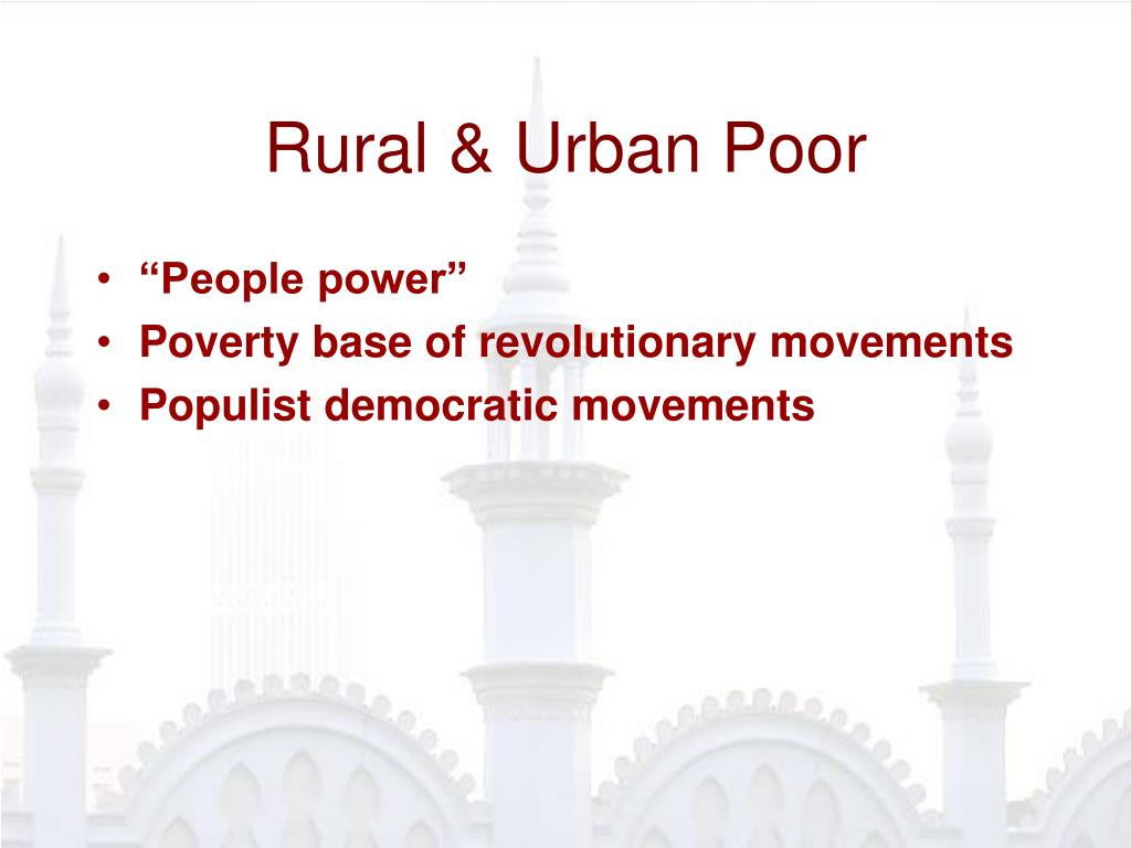 Rural & Urban Poor