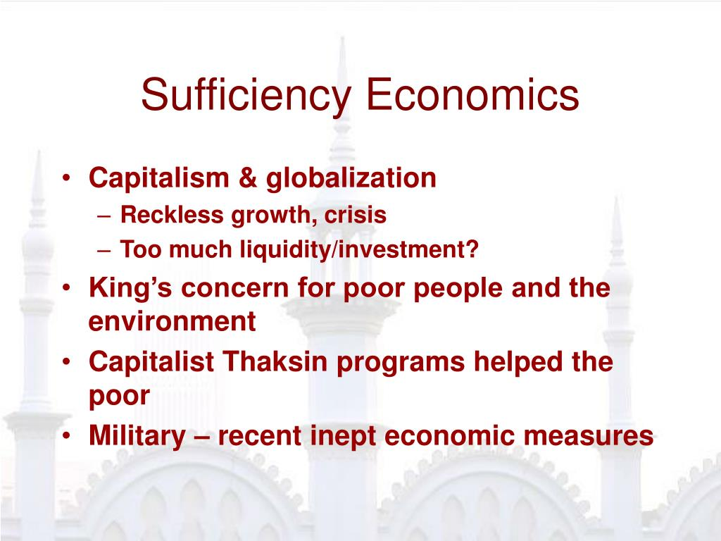 Sufficiency Economics