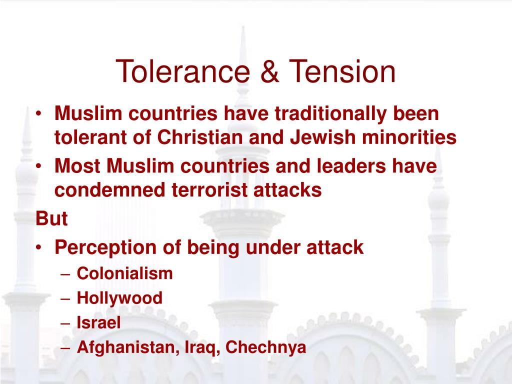 Tolerance & Tension