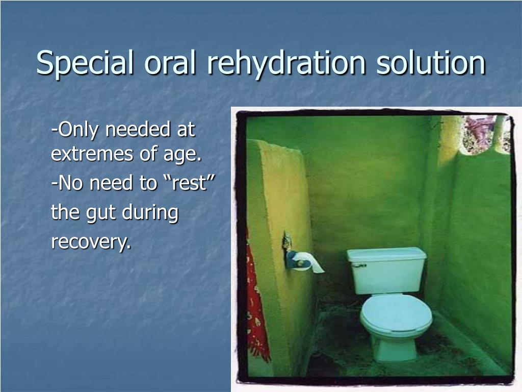 Special oral rehydration solution