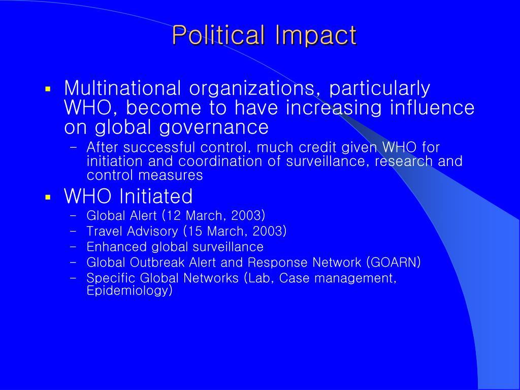 Political Impact