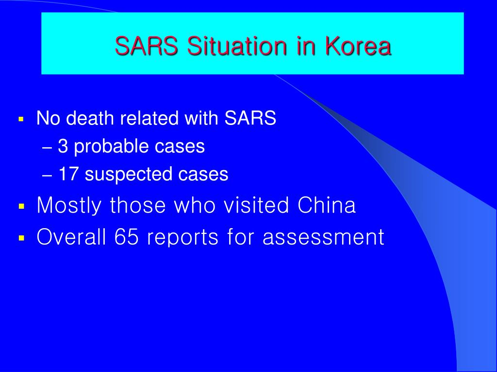 SARS Situation in Korea