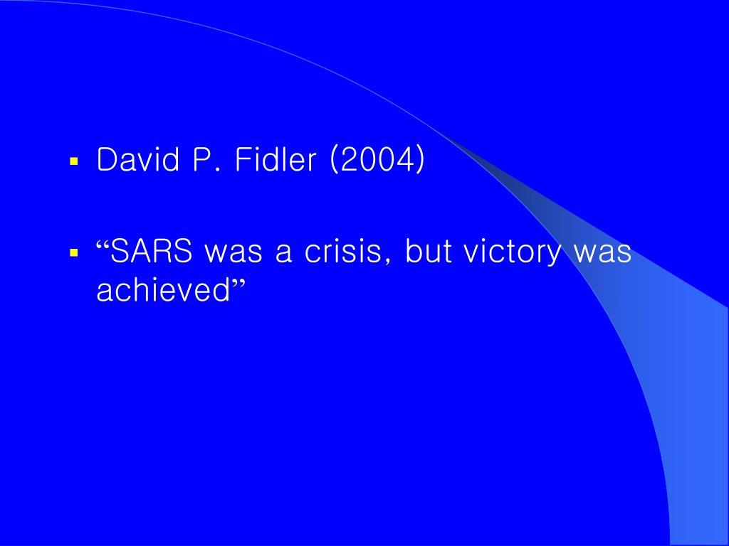 David P. Fidler (2004)