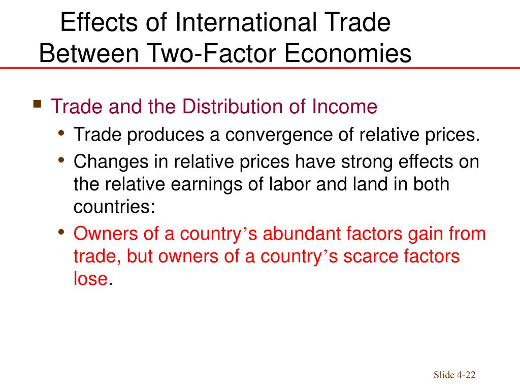 the effect of foreign trade on Thus foreign trade, by extending the size of the market, exercises a dynamic influence on the economy in turn, it helps to raise the production at higher trade.