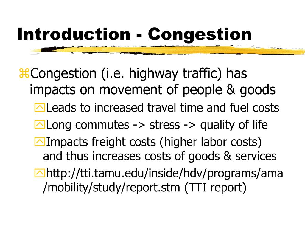 Introduction - Congestion