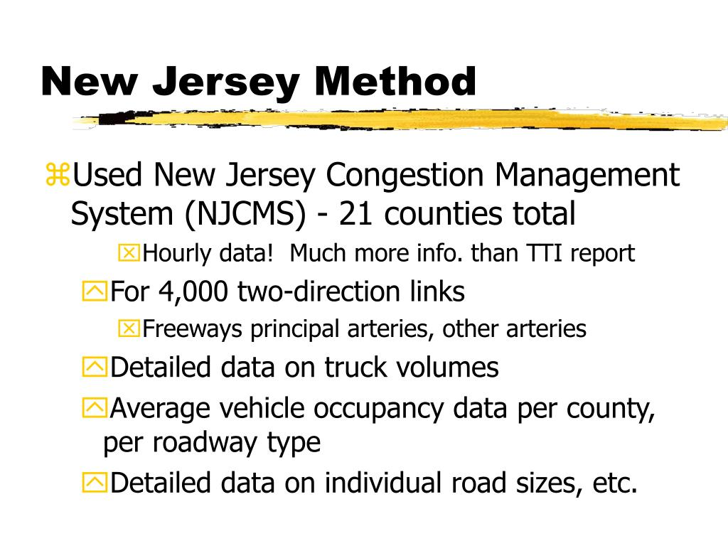 New Jersey Method