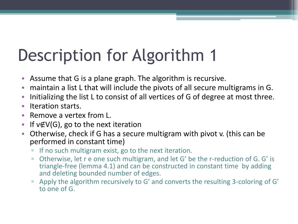 Description for Algorithm 1