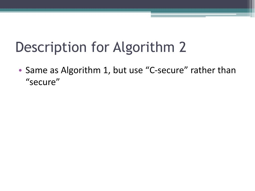 Description for Algorithm 2