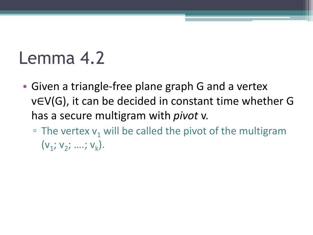 Lemma 4.2