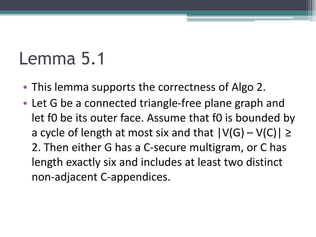 Lemma 5.1