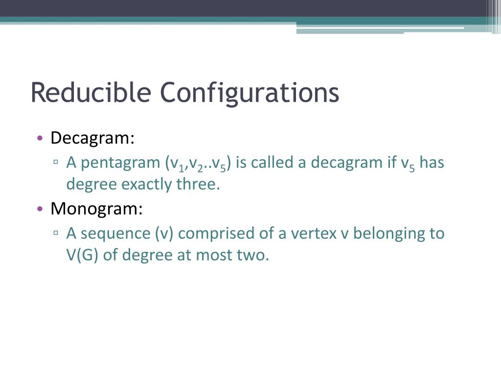 Reducible Configurations