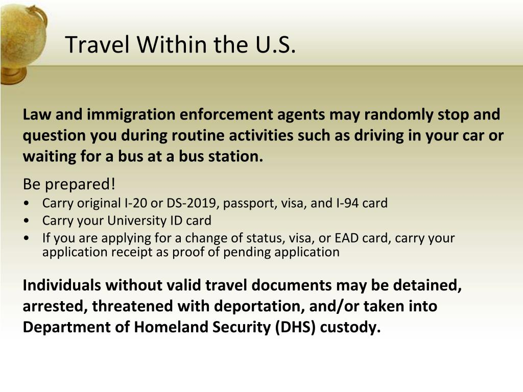 Travel Within the U.S.