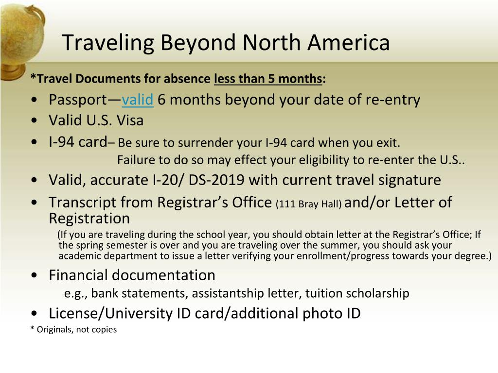 Traveling Beyond North America