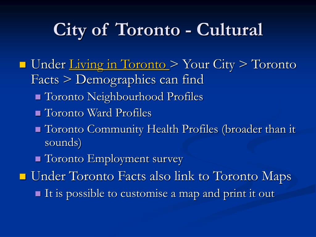 City of Toronto - Cultural