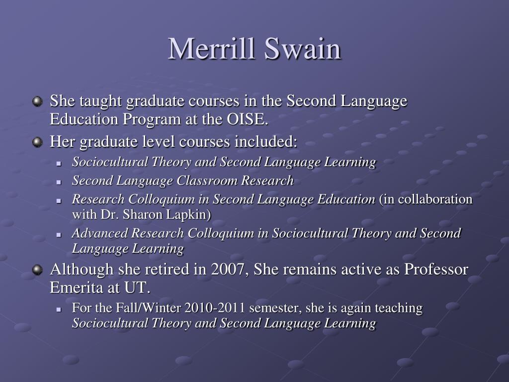 merrill swain output hypothesis pdf