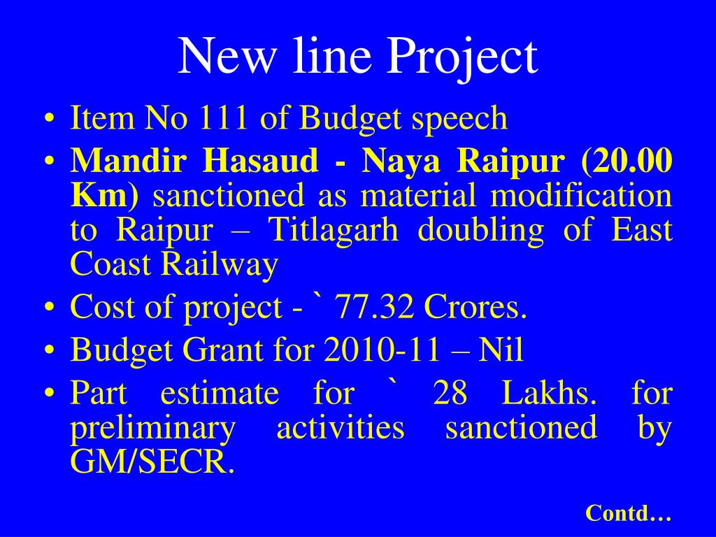 New line Project
