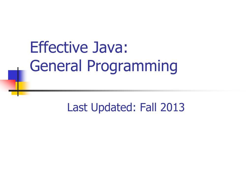 Effective Java: