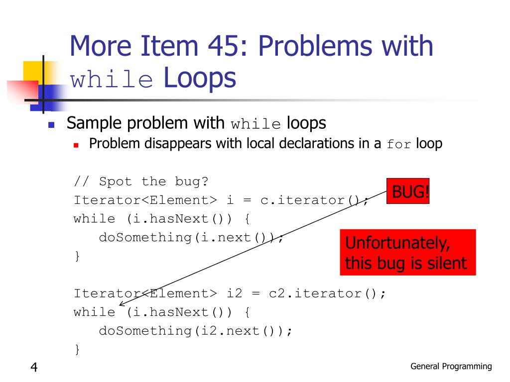 More Item 45: Problems with