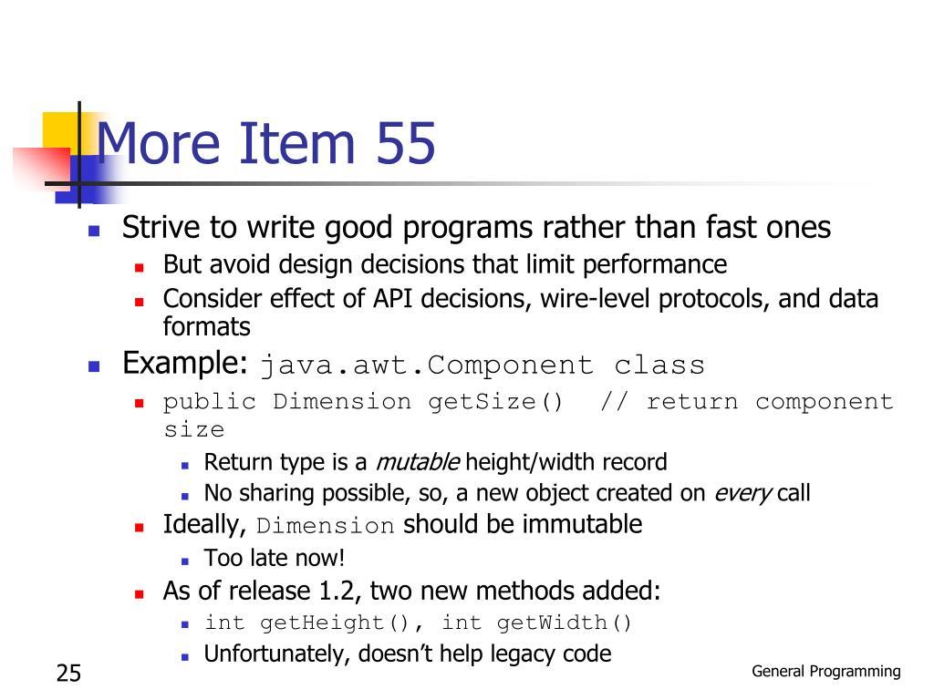 More Item 55