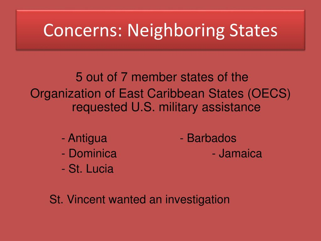 Concerns: Neighboring States