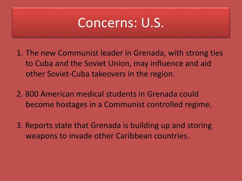 Concerns: U.S.
