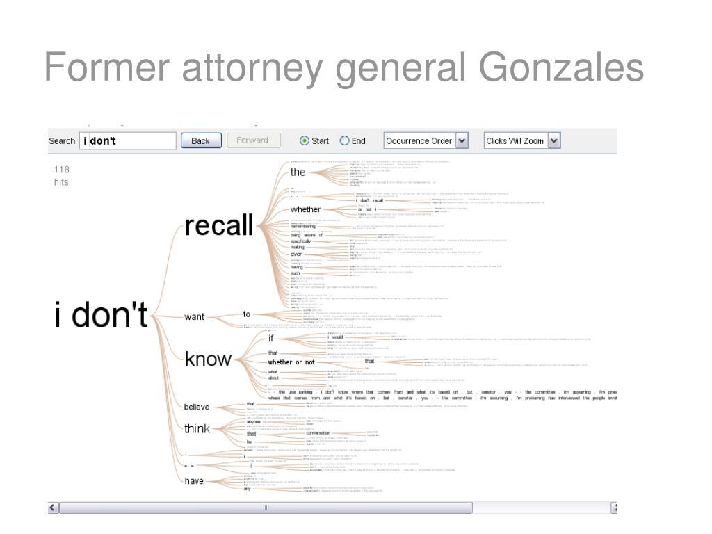 Former attorney general Gonzales