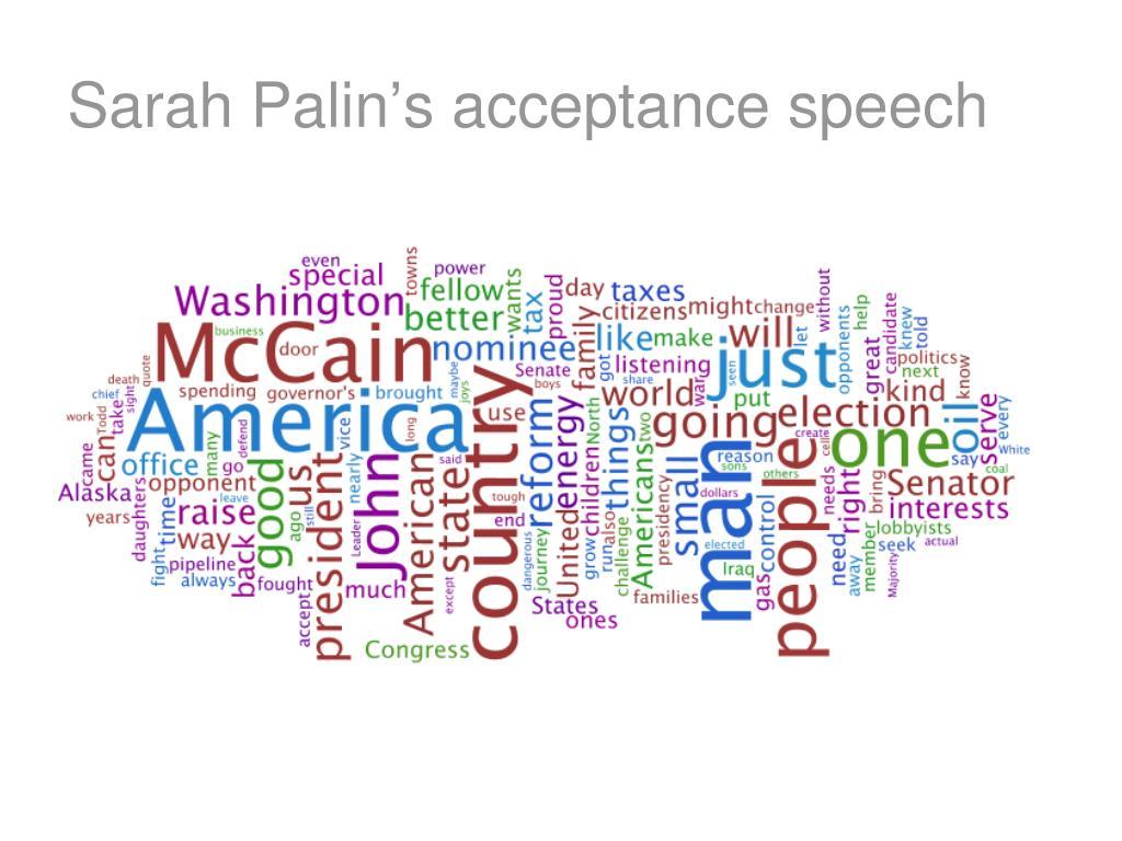 Sarah Palin's acceptance speech