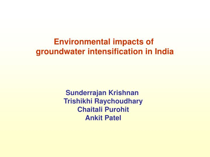 Environmental impacts of