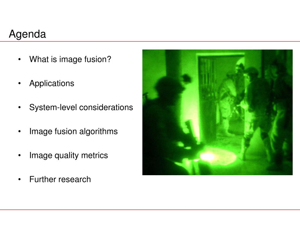 What is image fusion?