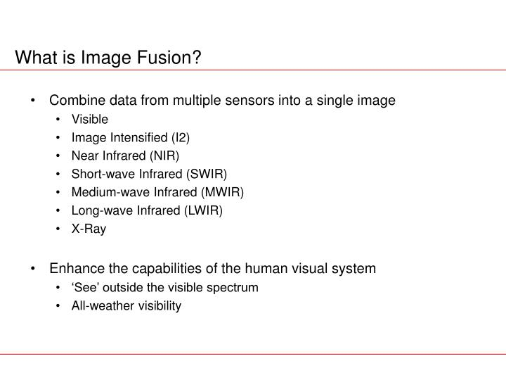 What is image fusion