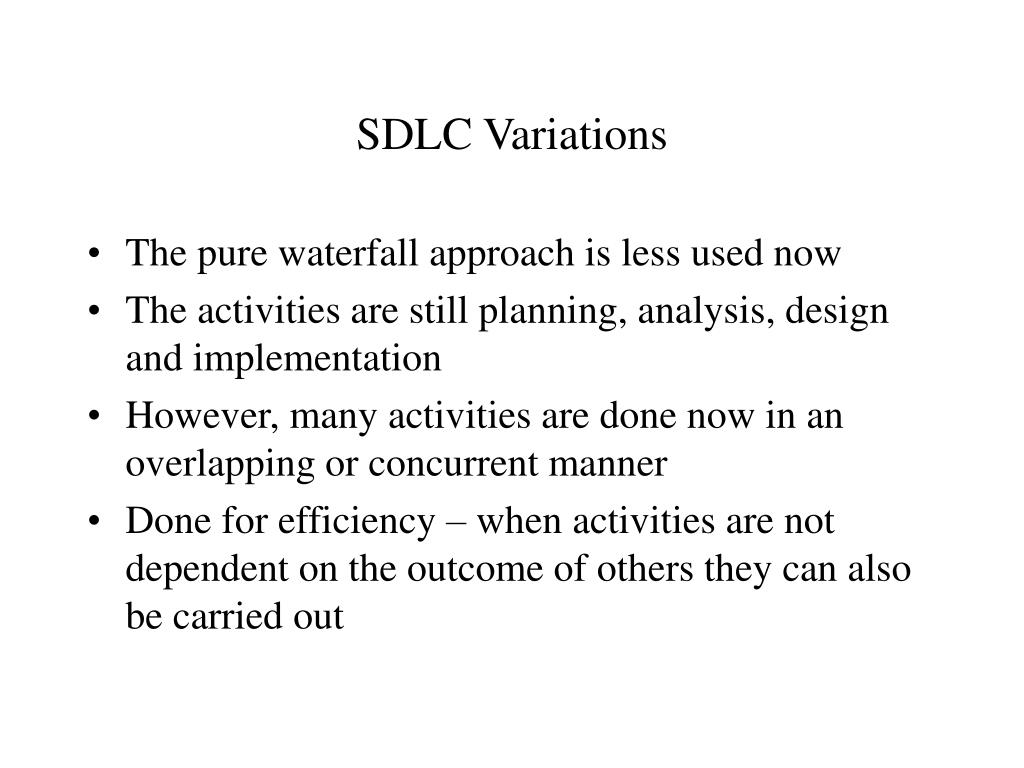 SDLC Variations