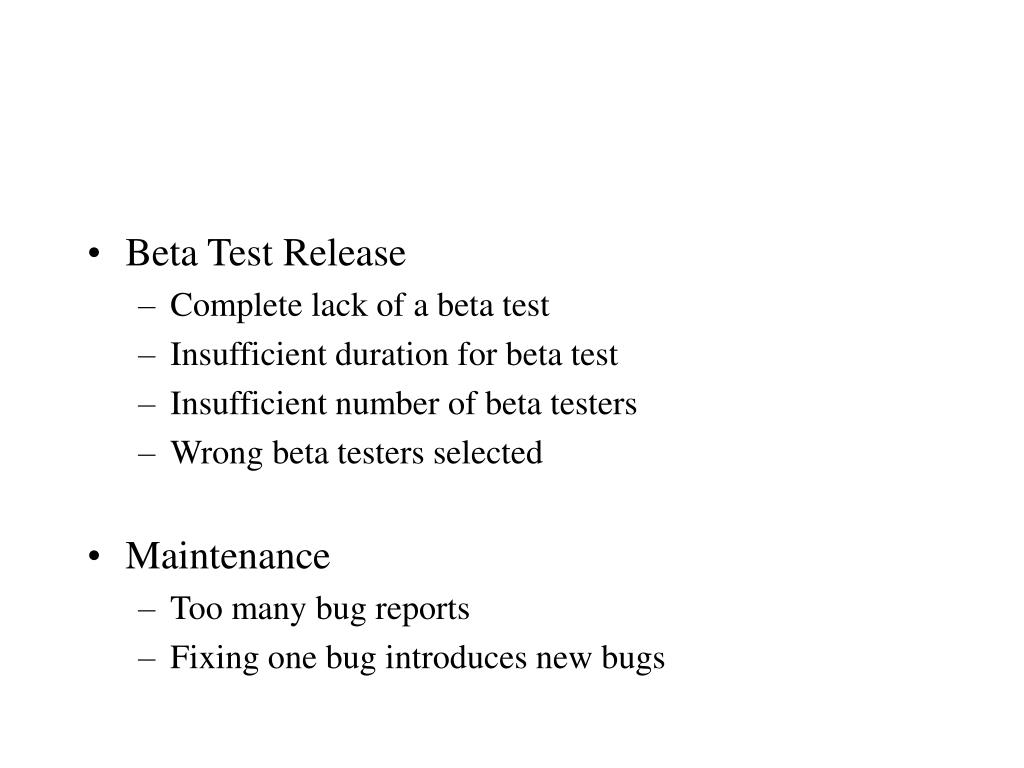 Beta Test Release