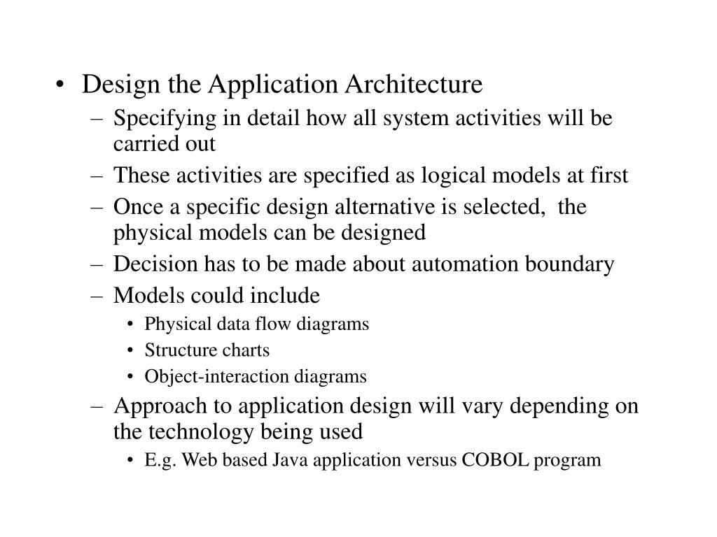 Design the Application Architecture