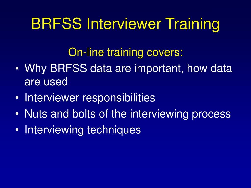 BRFSS Interviewer Training