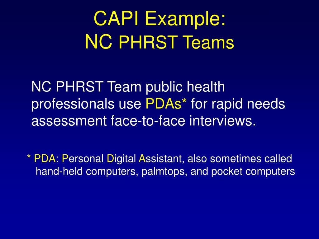 CAPI Example: