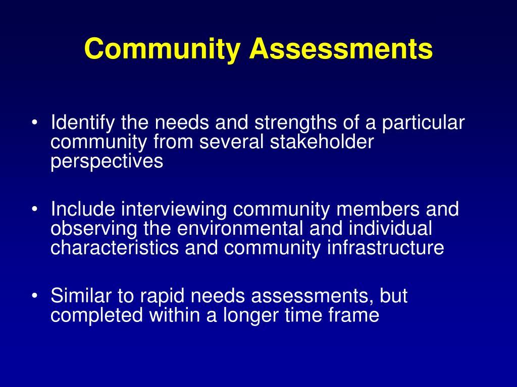 Community Assessments