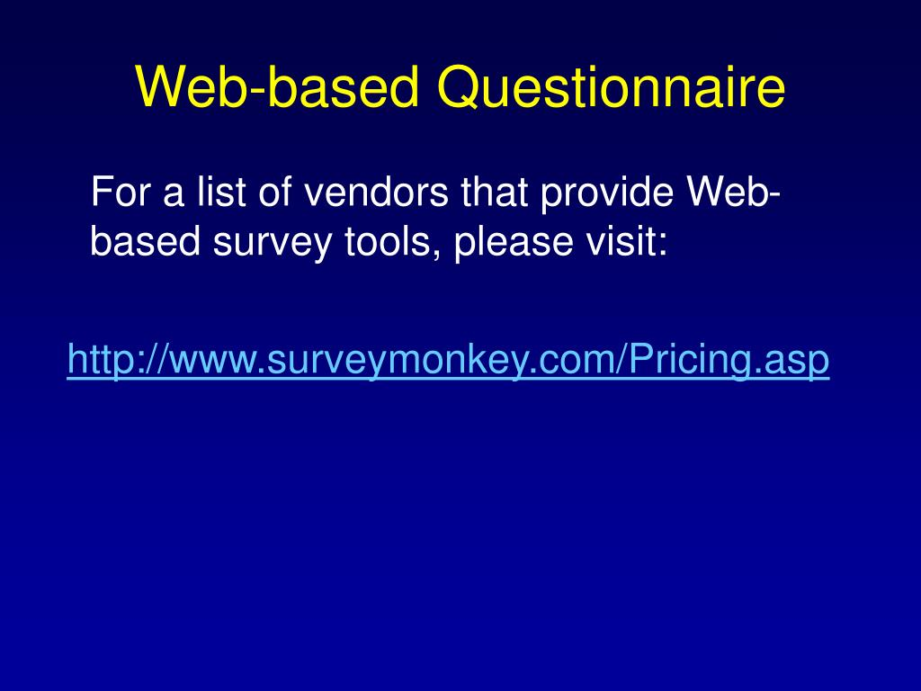 Web-based Questionnaire