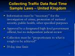 collecting traffic data real time sample laws united kingdom