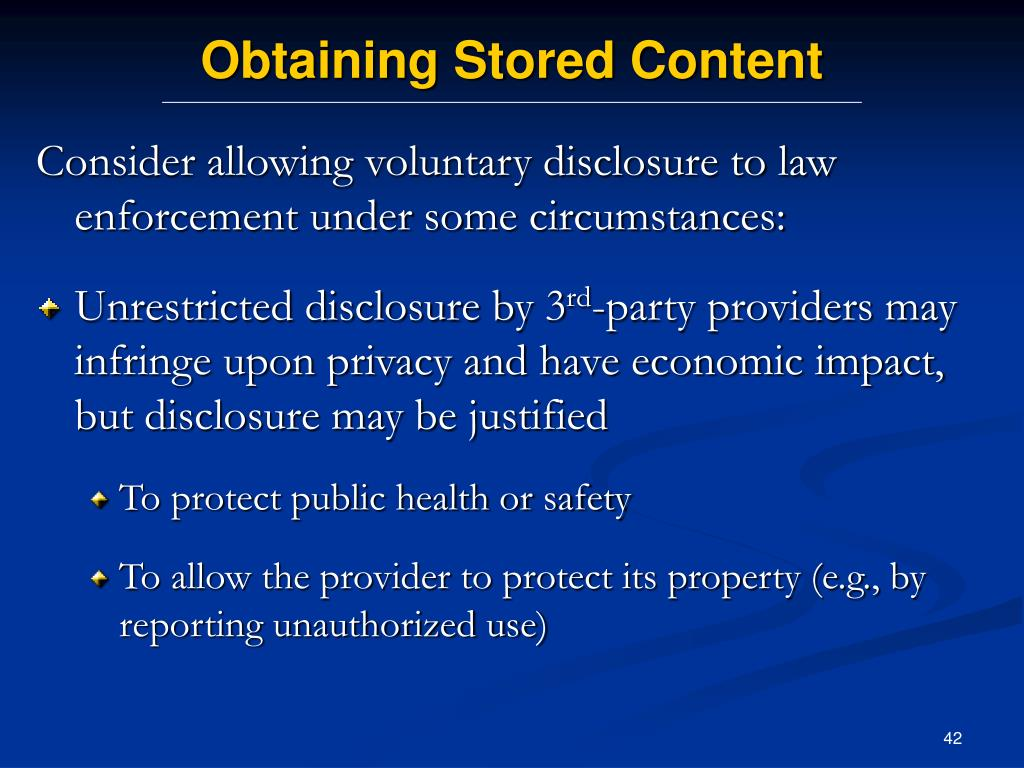Obtaining Stored Content