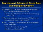 searches and seizures of stored data and intangible evidence