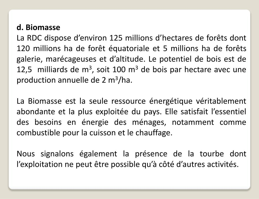 d. Biomasse