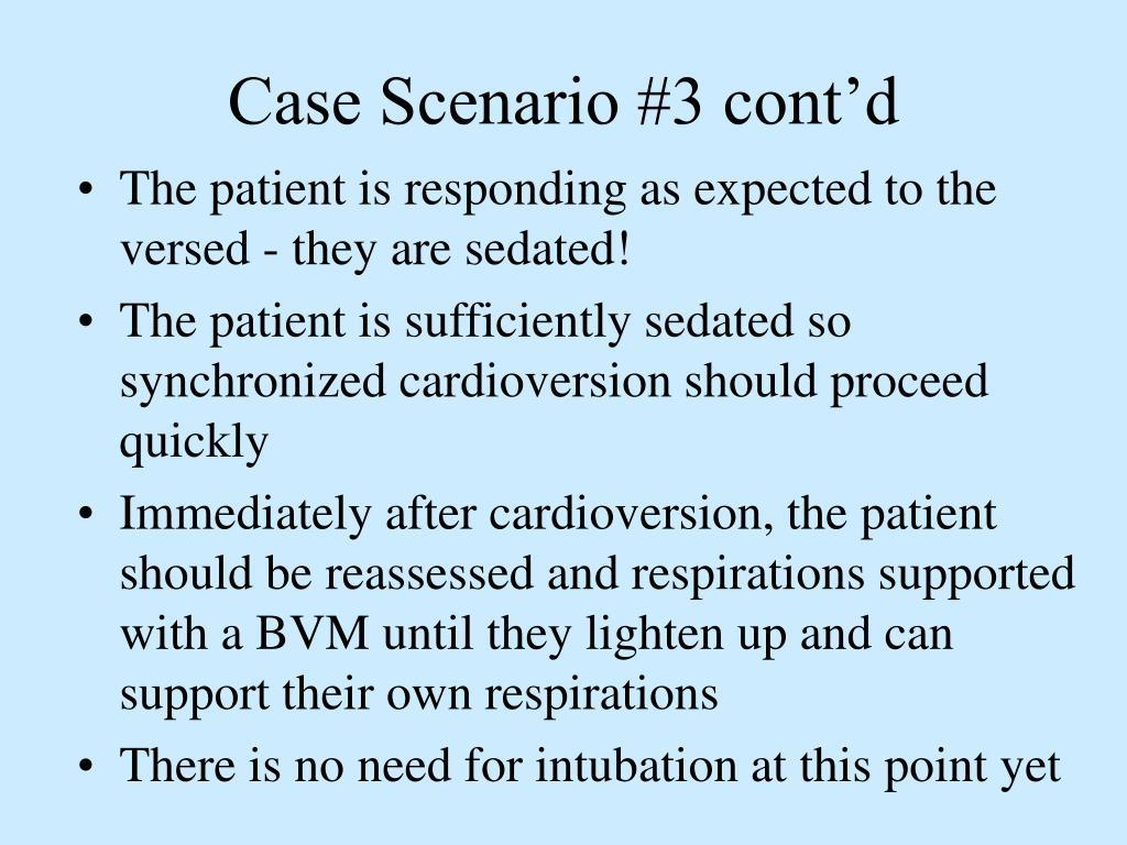 Case Scenario #3 cont'd