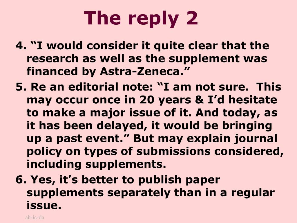 The reply 2