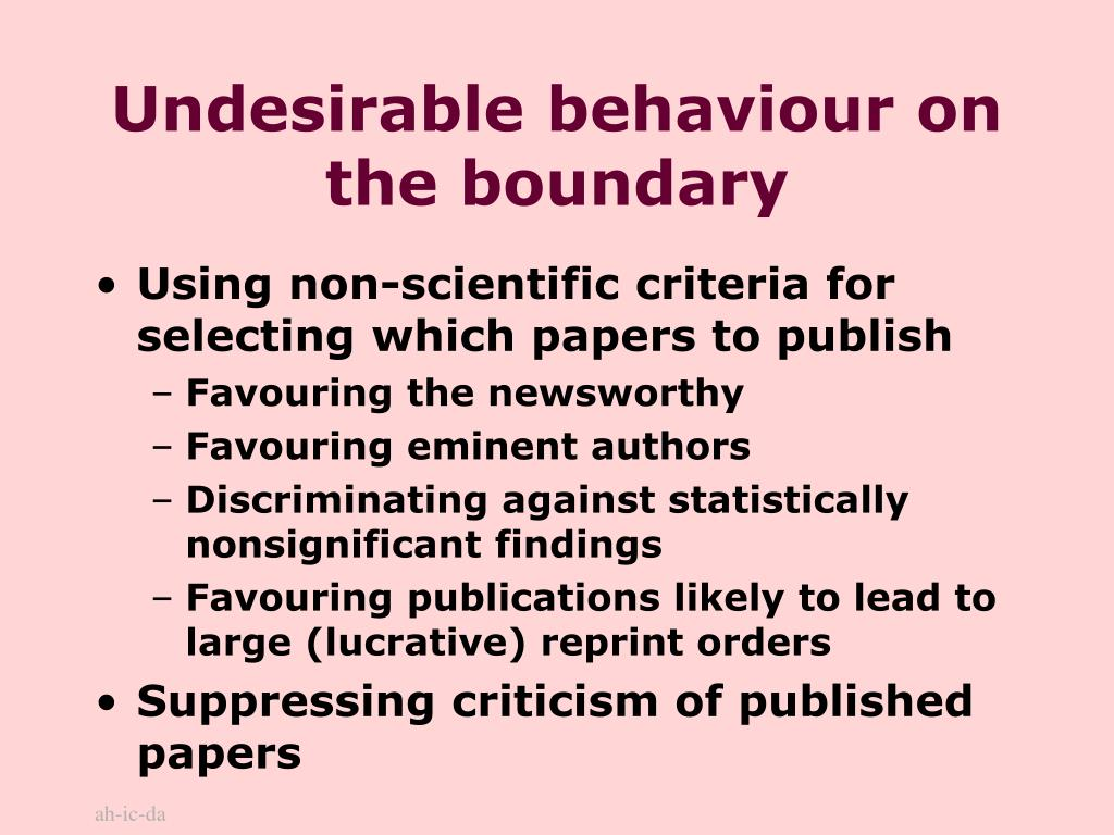 Undesirable behaviour on the boundary