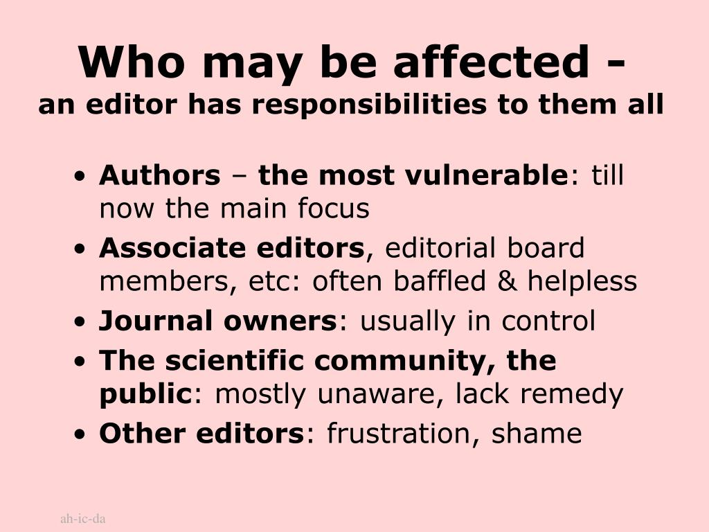 Who may be affected -