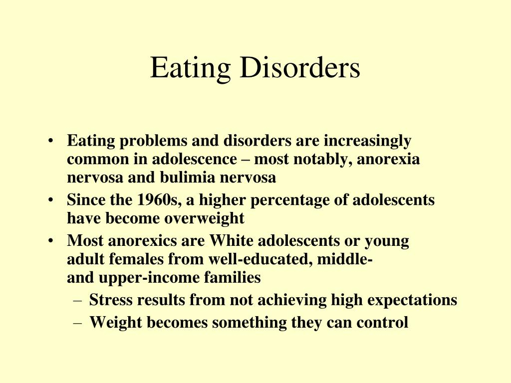 the underlying causes and nature of eating disorders in adolescents and young women Learn about adolescent eating disorders such as binge eating  learn about adolescent eating disorders such as binge middle-aged women and eating disorders.