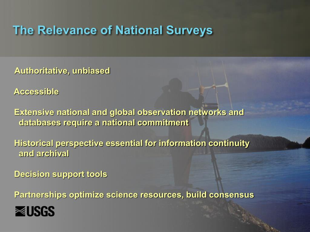 The Relevance of National Surveys