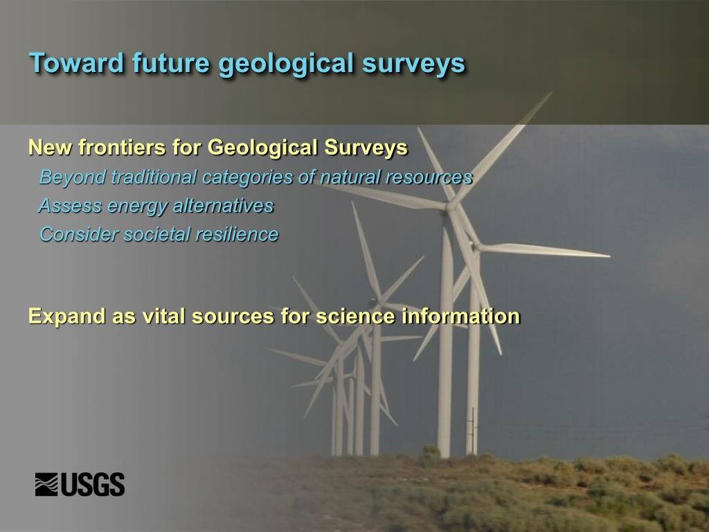 Toward future geological surveys
