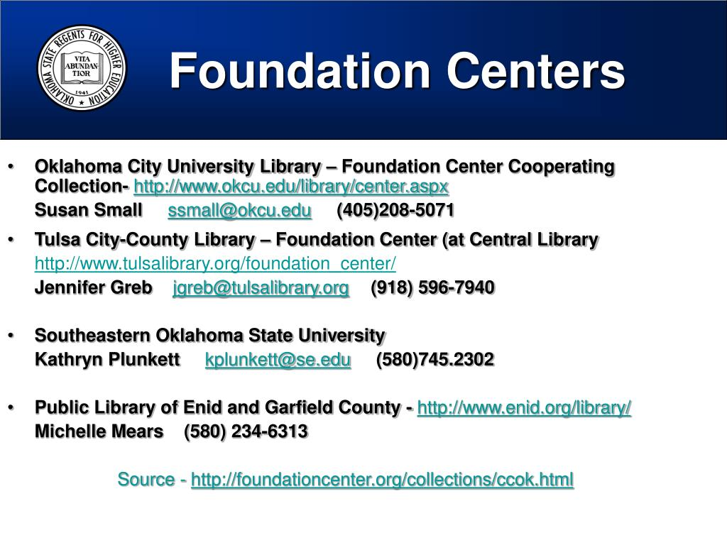 Foundation Centers